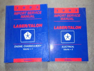 1993 Eagle Talon & Plymouth Laser Repair Service Shop Manual SET FACTORY 2 VOL