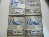 1961 GM Pontiac TEMPEST Service Repair Shop Manual 4 Volume Set Factory OEM x