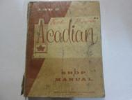 1962 GM Pontiac Acadian Service Shop Repair Workshop Manual Factory OEM Book