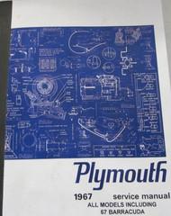1967 Plymouth Barracuda Road Runner Satellite Belvedere GTX Service Shop Manual