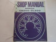 1974 HONDA CB200 CL200 Service Shop Repair Manual LOOSE LEAF MINOR STAINS DEAL