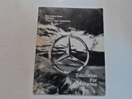 1978 Mercedes Benz DIESEL Theory & Operation Manual WORN STAINED FACTORY OEM 78