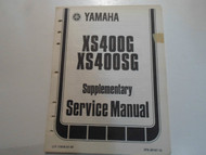 1980 Yamaha XS400G XS400SG Supplementary Service Manual FACTORY OEM BOOK 80 x