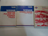 1980-1985 Nissan Stanza Sentra Pulsar Model Intro Technical Bulletin 3 VOL SET