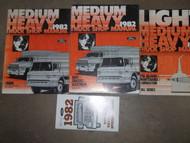 1982 Ford Medium Heavy Duty Truck Service Shop Repair Manual Set OEM W SPECS