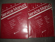 1984 Chrysler Dodge E Class New Yorker Laser Aires Service Shop Manual Set OEM
