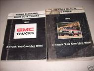 1986 GMC S Truck Service Shop Repair Manual Set OEM W Wiring Diagram Manual x