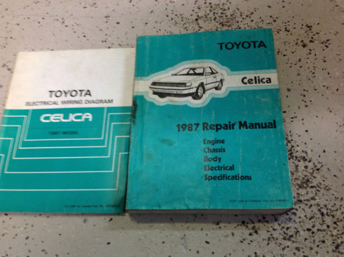 1987 Toyota Celica Service Repair Shop Manual Set Factory