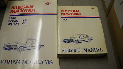 1988 Nissan Maxima Service Shop Repair Manual Set Oem W