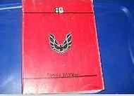 1988 Pontiac Firebird Trans Am Service Repair Shop Workshop Manual Brand New GM