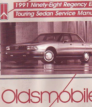 1991 Oldsmobile Ninety Eight 98 Regency Elite Touring Sedan Service Shop Manual