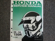 1992 1993 1994 1995 1996 1997 1998 1999 HONDA Z50R Service Shop Repair Manual NE