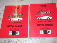 1993 Chevrolet Chevy CORVETTE Service Repair Shop Manual SET OEM W Supplement GM