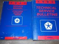 1993 Eagle Vision Dodge Intrepid Concorde Service Shop Repair Manual Set W Tech