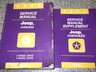1996 Jeep CHEROKEE Service Shop Repair Manual FACTORY BOOK SET MOPAR 96 HUGE