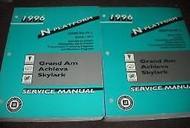 1996 Pontiac Grand Am Buick Skylark Olds Acheiva Service Shop Repair Manual Set
