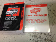 1997 TOYOTA 4RUNNER Service Shop Repair Workshop Manual Set W Supplement OEM