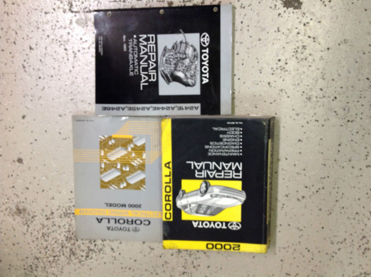 2000 Toyota Corolla Service Repair Shop Manual Set Oem W