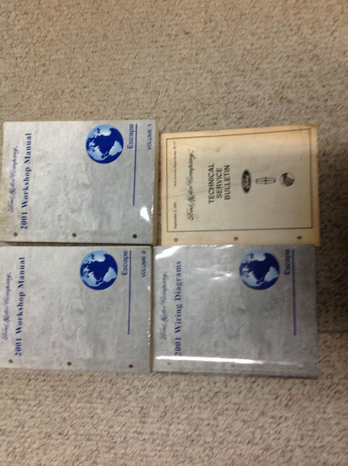 2001 Ford Escape Service Shop Repair Manual Set Oem W Ewd