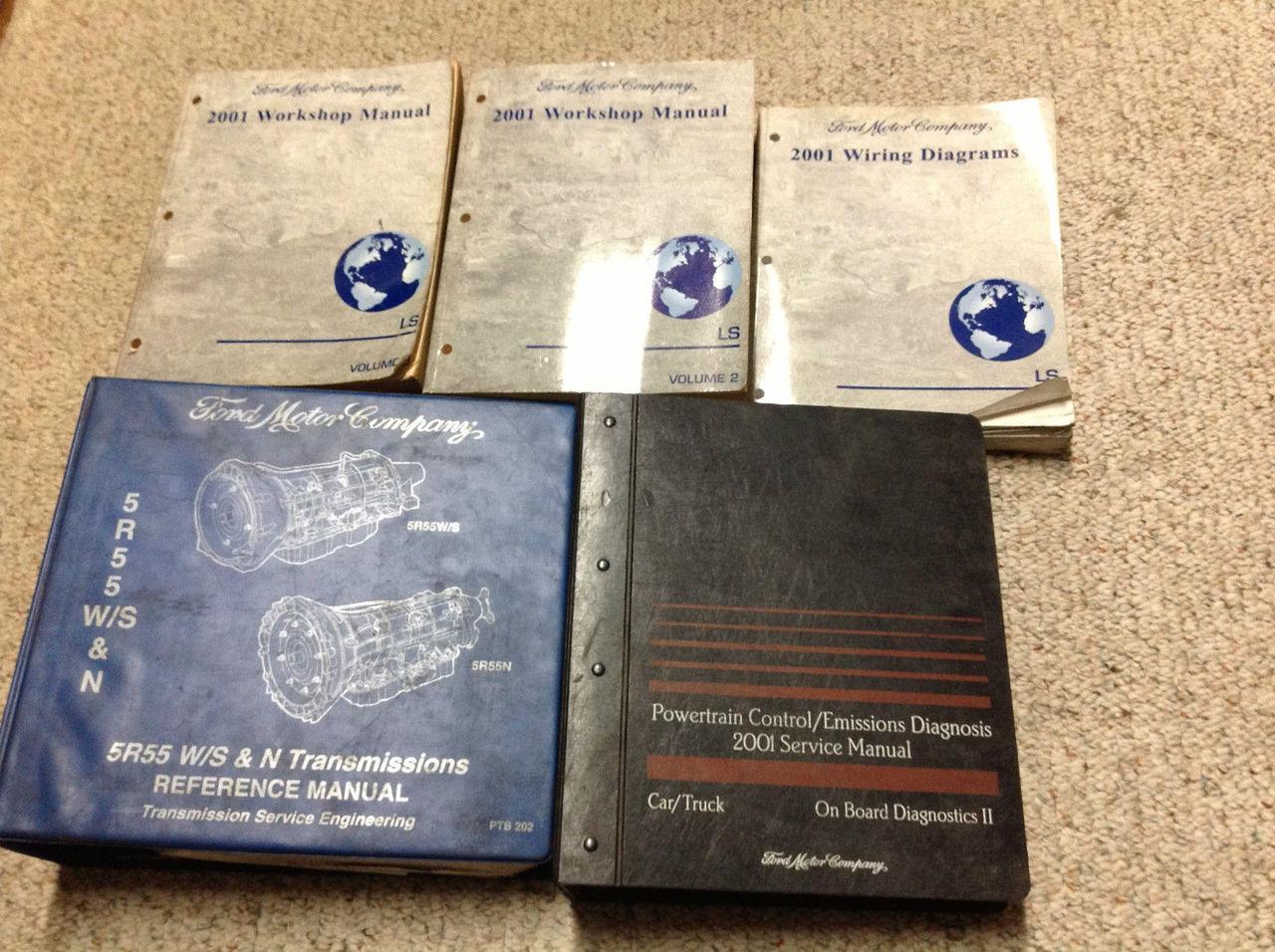 2001 Ford Lincoln Ls Service Shop Repair Manual Set W Ewd