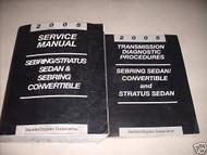2005 Chrysler Sebring Dodge Stratus Service Shop Repair Manual Set W Diagnostic