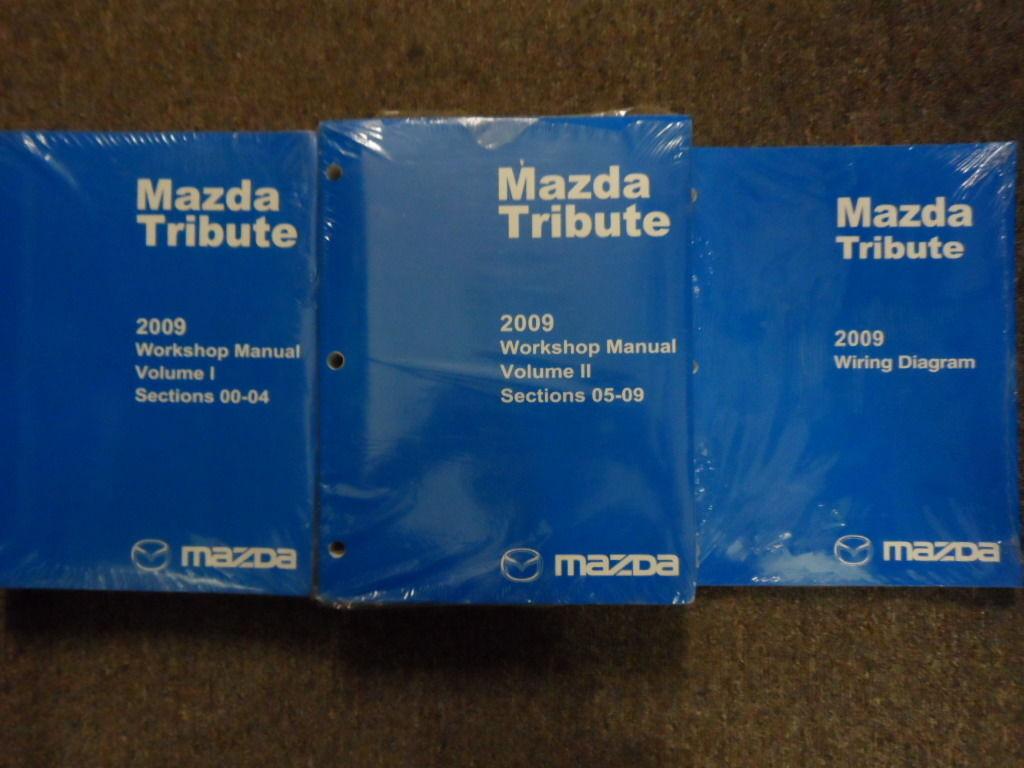 2009 Mazda Tribute Service Repair Shop Workshop Manual Set