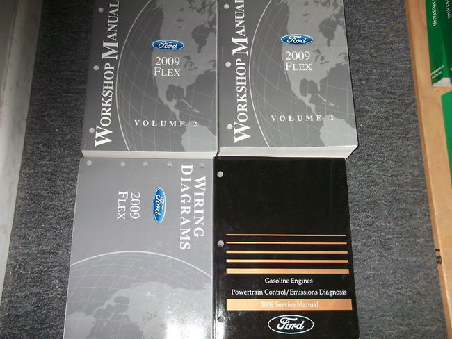2009 Ford Flex Service Shop Repair Manual Set W Ewd   Pced