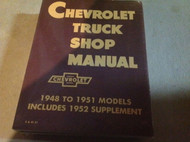 1948 1949 1950 1951 1952 1953 CHEVY TRUCK Chevrolet Service Shop Repair Manual X