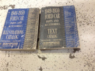 1949 1950 1952 1953 1955 1956 1957 1959 Ford Car Parts Catalog Manual Set OEM