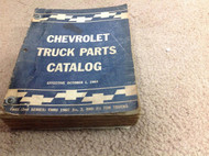 1955 1957 1958 1960 1962 1964 1965 Chevy Truck Parts Catalog Manual Factory