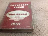 1957 Chevy Chevrolet Truck Service Shop Repair Workshop Manual FACTORY OEM Worn