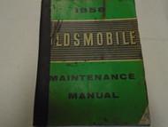 1958 GM Oldsmobile Olds All Models Service Shop Repair Manual Factory OEM WORN