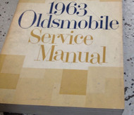 1963 Oldsmobile 442 F85 Cutlass 88 98 Service Shop Repair Workshop Manual NEW
