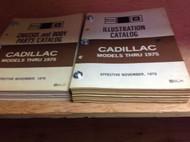 1967 1968 1969 1970 1972 1973 1974 1975 CADILLAC Parts Catalog Manual SET OEM
