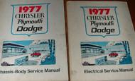 1977 Chrysler CAR Plymouth Fury Dodge Charger Service Repair Shop Manual Set OEM