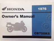 1976 HONDA CB750K6 750 Four Operators Owner Owners Manual NEW