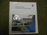 2008 VW Routan Occupant Protection Service Training Self Study Program Manual