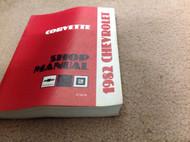 1982 Chevrolet Chevy CORVETTE Service Repair Workshop Shop Manual FACTORY GM OEM