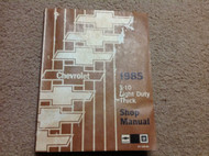 1985 ChevroletS-10 S S10 Light Duty Truck Service Shop Repair Manual OEM Factory