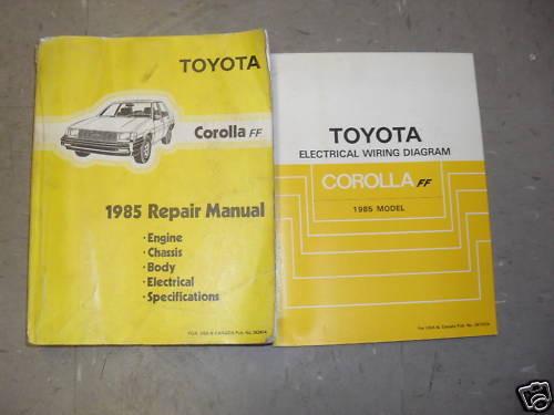 1985 Toyota Corolla Ff Service Repair Shop Workshop Manual