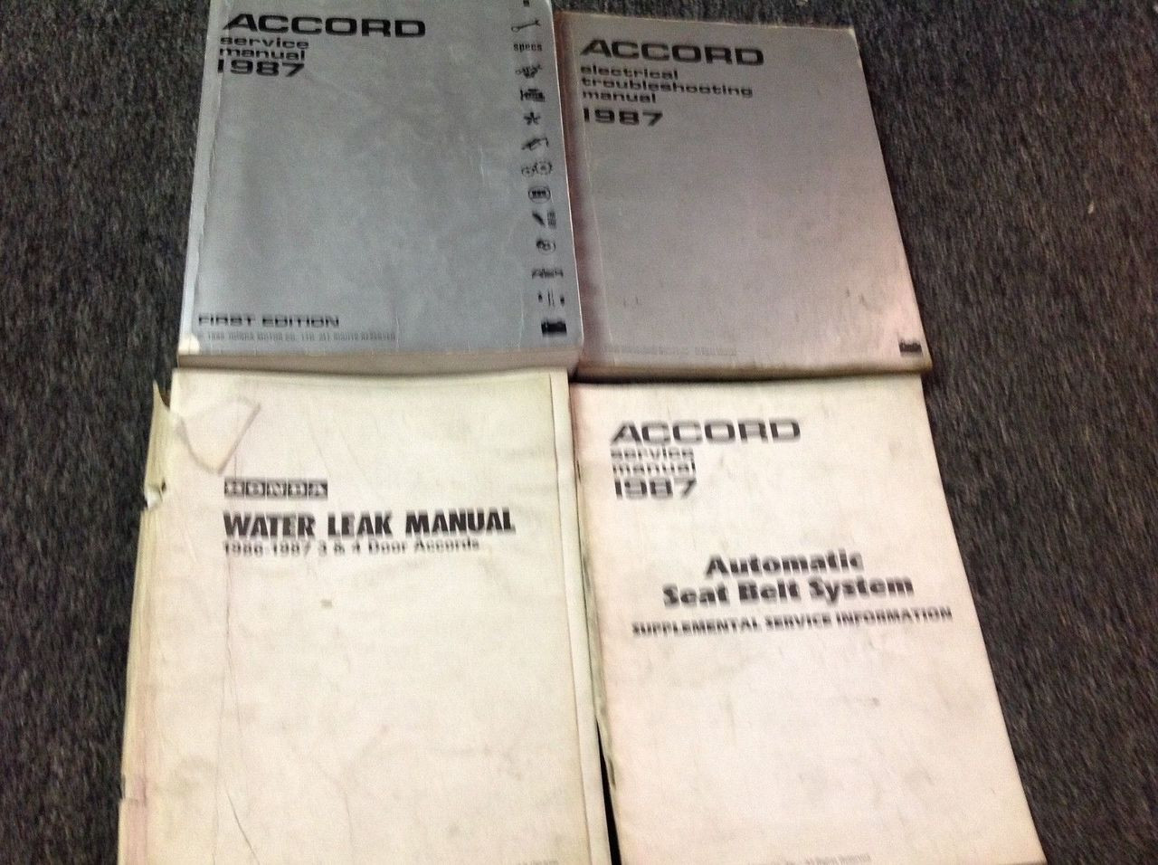 1987 Honda Accord Service Shop Repair Workshop Manual Set
