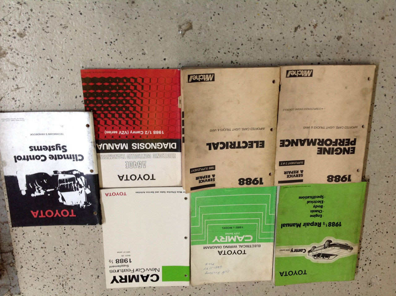 1988 1  2 Toyota Camry Service Repair Shop Workshop Manual