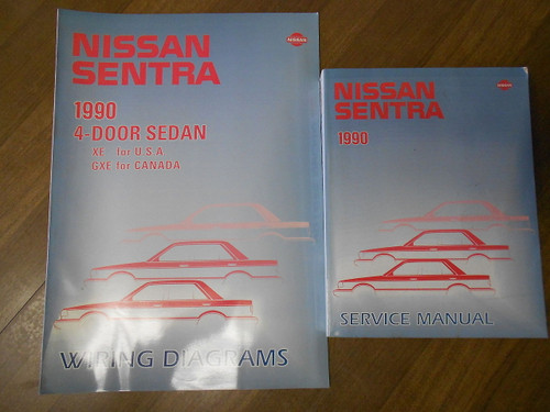 1990 Nissan Sentra Service Repair Shop Workshop Manual Set