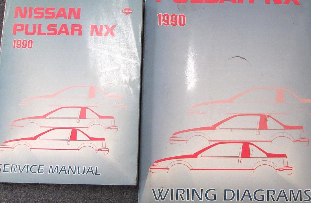 1990 Nissan Pulsar Service Repair Shop Workshop Manual Set Oem Factory W Ewd