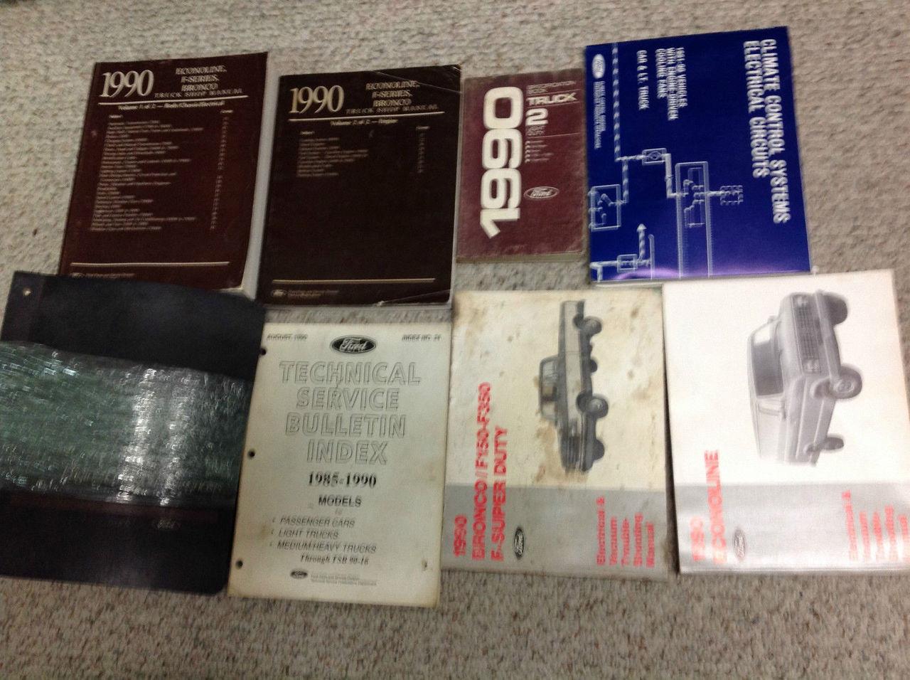 1990 Oem Ford F-150 F150 F-series Bronco Diesel Service Shop Repair Manual Set