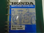 1991 1992 1993 1994 1995 1997 1998 1999 Honda CB250 Service Repair Manual ***
