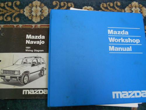 1991 Mazda Navajo Service Shop Repair Workshop Manual Set