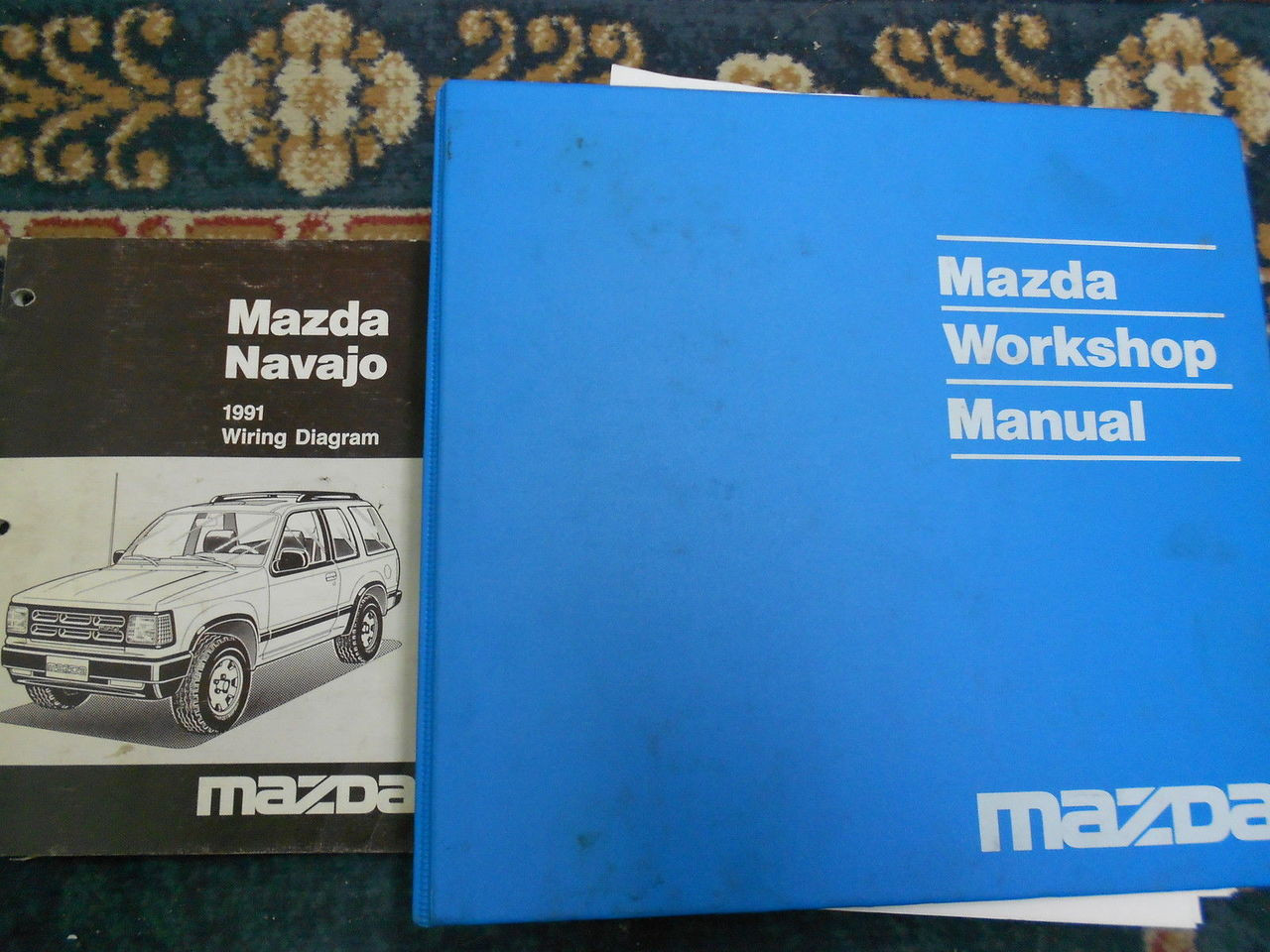 1991 Mazda Navajo Service Shop Repair Workshop Manual Set