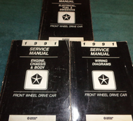 1991 OEM DODGE DYNASTY SPIRIT LEBARON SHADOW ACCLAIM FWD Service Shop Manual Se