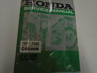 1992 1993 1994 1995 1996 1997 1998 1999 Honda CR500R Service Manual Used Damage
